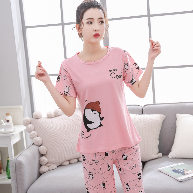 da5abdd5f 2018 Women s Cropped Pants Comfortable Plus Pajama Set 7002 ...
