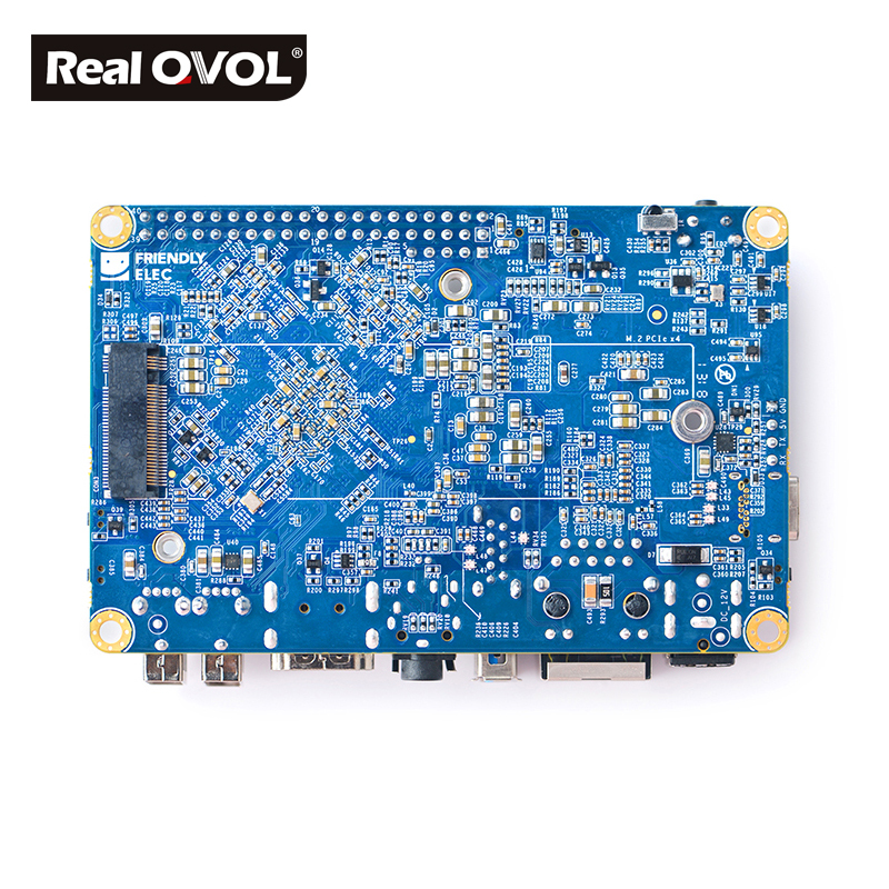 Image 4 - RealQvol NanoPC T4 Minimal Rockchip RK3399 Soc 4GB RAM 16GB eMMC AI and deep learning applications Dual band wifi M.2 PCIe NVME-in Demo Board from Computer & Office