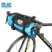 ROSWHEEL 100 Full Waterproof Bike Bag 7L Front Tube Bag MTB Road Bicycle Handlebar Basket Pack