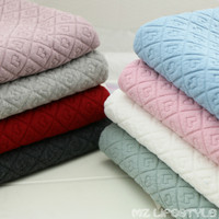 Of Cotton Fabric Heart Jacquard Thickened Warm Clothing Cotton Cloth Environment Protection No Fluorescence