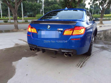 F10 M5 DT Style Carbon Front Splitter Spoiler Designed For The  BMW F10 F18 5 SERIES (fit for M-TECH bumper only)
