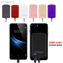NTSPACE 4000mAh Portable Battery Charger Case External Backup  Power Bank Pack For iPhone Samsung Xiaomi Huawei Charger Case цены