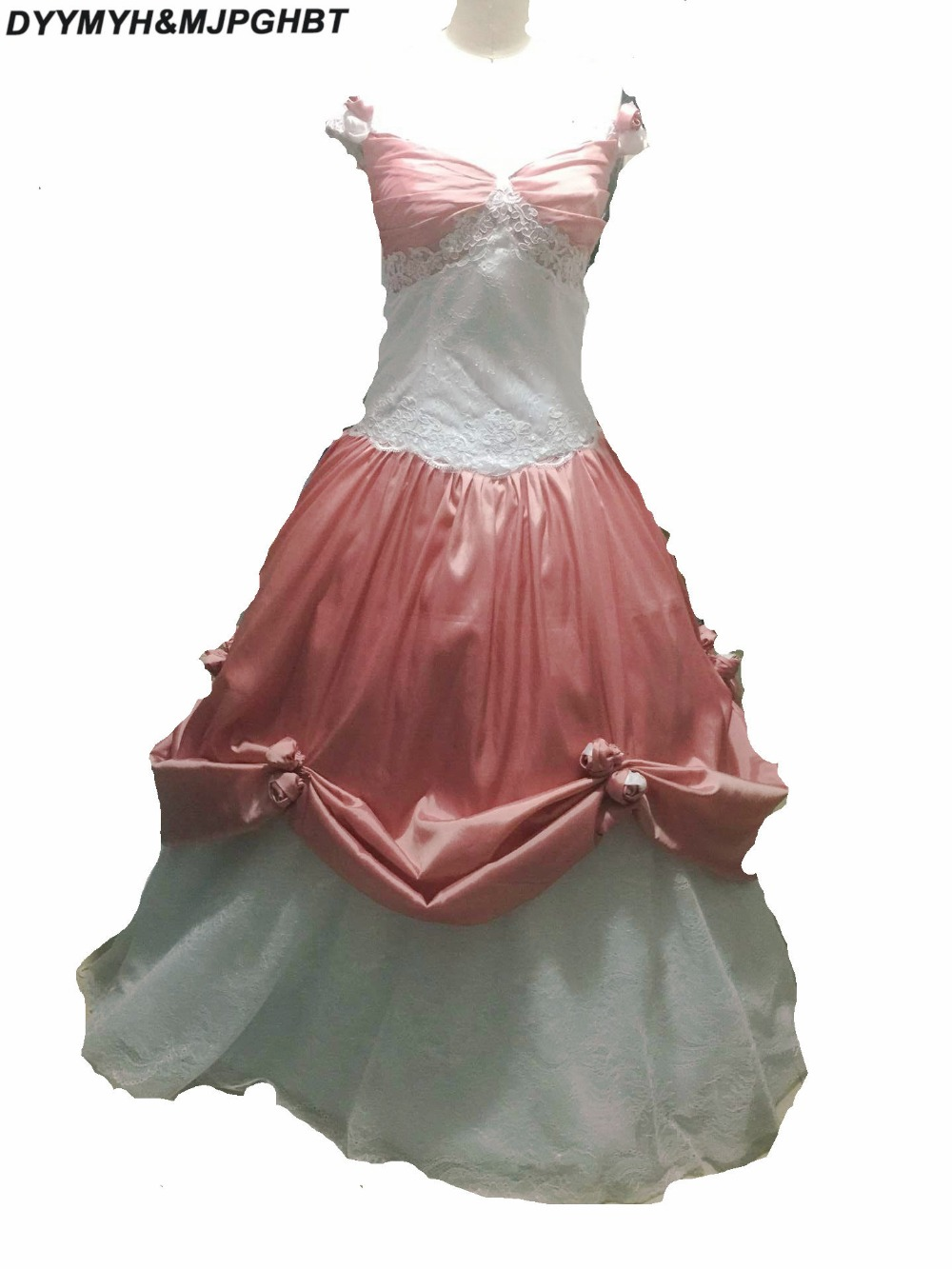 Weddings & Events Apprehensive Pink/white Quinceanera Dresses Satin With Hand Flower Sweet 16 Dresses Ball Gowns Vestidos De 15 Anos Debutante