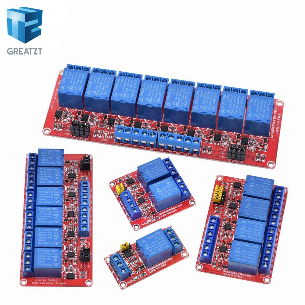 Relay module 1 2 4 6 8 Channel 5V 12V Relay Module Board Shield with Optocoupler Support High and Low Level Trigger for Arduino