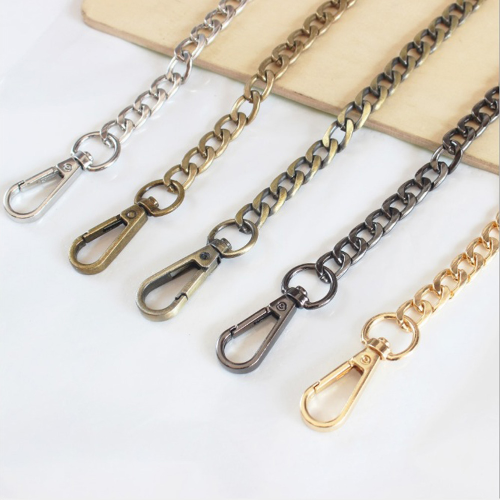 120cm Metal Chain For Shoulder Bags Handbag Buckle Handle DIY Belt For Bag Strap Accessories Iron Chain