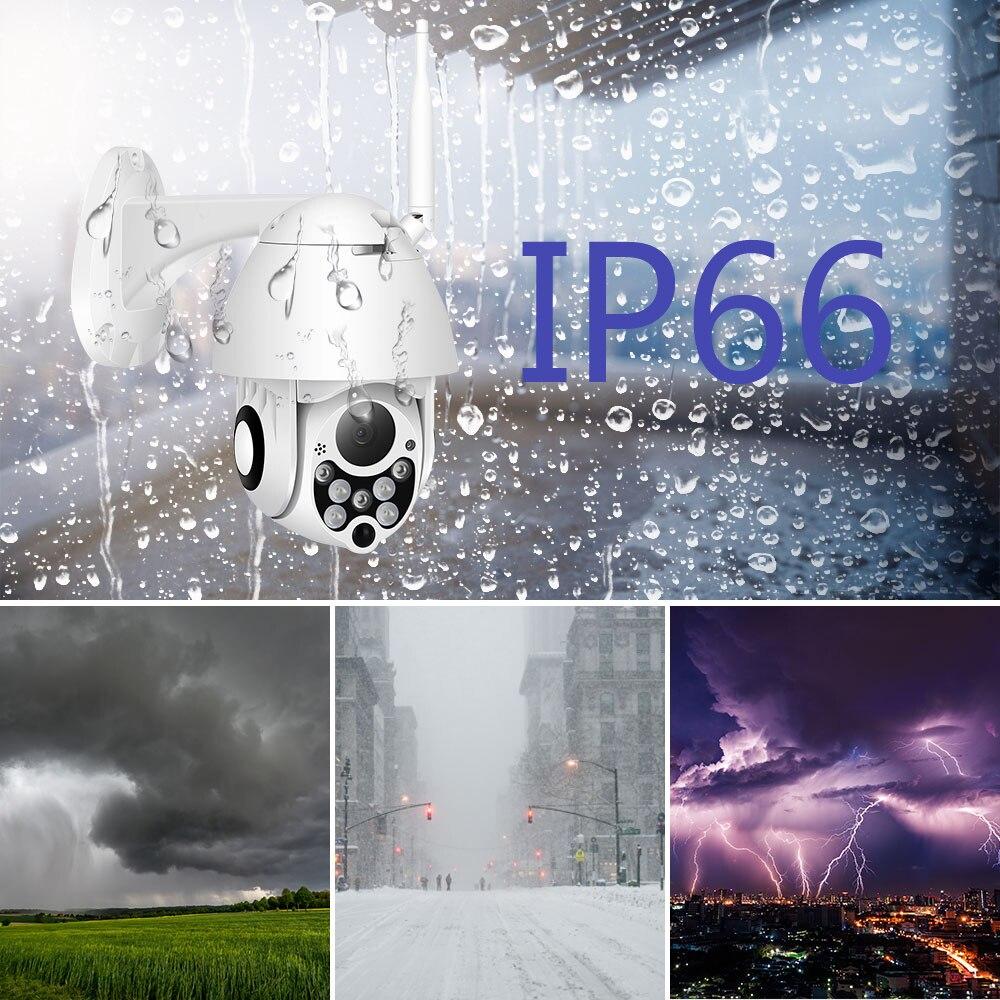 Caméra IP sans fil 1080 P 2MP dôme de vitesse Wifi PTZ extérieur IP66 Onvif Audio bidirectionnel IR CCTV Surveillance de sécurité Camara extérieur - 2