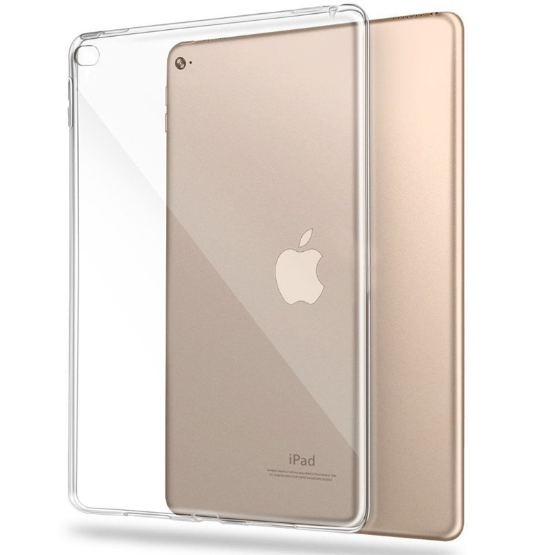 For iPad 2018 Air Air 2 Tablet Case Crystal Transparent Soft TPU Silicon Case Cover For iPad 4 Mini A1822 A1893 Protective Cases