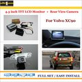 """For Volvo XC90 - Car Parking Camera + 4.3"""" LCD Monitor NTSC PAL = 2 in 1 Parking Rearview System"""