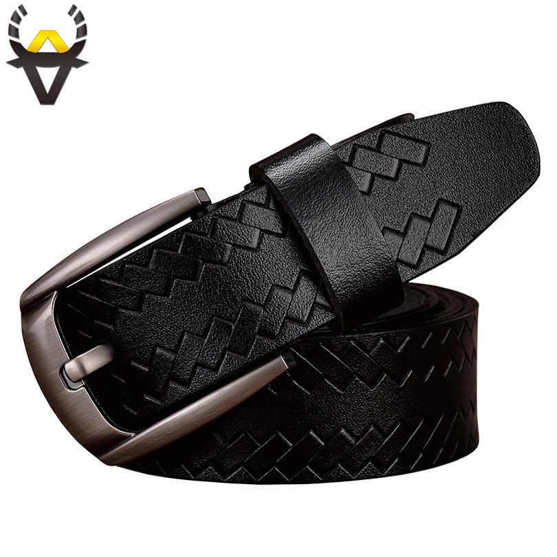 7b8ebb5f3d3e ... Модные пояса из натуральной кожи ремни для мужчин роскошный  дизайнерский ремень человек булавки туфли с ремешком ...