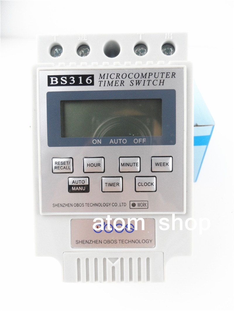 KG316T AC 220V 25A Din Rail LCD Digital Programmable Electronic Timer Switch Digital Timer Controller BS316 fgk 330id