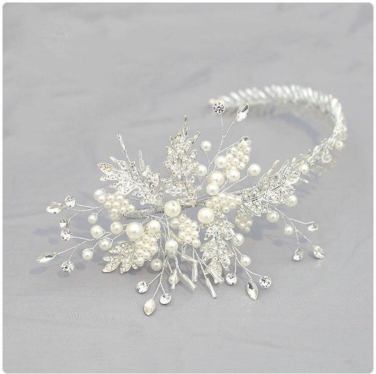 New Handmade Beads Bride Crystal Fascinator Bridal Wedding Hairdress  Stage Accessories