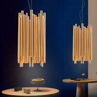 Италия Дизайн Брубек золото Алюминий сплава трубки подвесной светильник Illuminazione меж проекта подвесной светильник новый