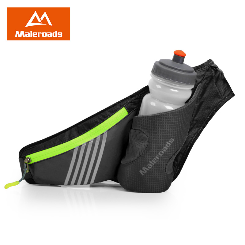 Free Gift-Bottle ! High Quality Running waist pack bottle waist bag Waterproof Outdoor Portable Cycling bag men women Belt Bag