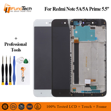 Display For XIAOMI Redmi Note 5A/Note 5A Prime LCD Touch Screen Digitizer With Frame Original Y1 / Y1 Lite Black White with tool