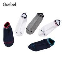 Goebel Для мужчин короткие носки одноцветное Цвет Повседневное Лето лодка Носки для девочек для человека хлопок мелкой рот мужской Носки для д