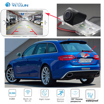 New Arrival! wireless connection car reversing HD camera for Audi A4 S4 RS4 2001-2008 for Audi A4 S4 B6  B7 (8E 8H) 2001-2005