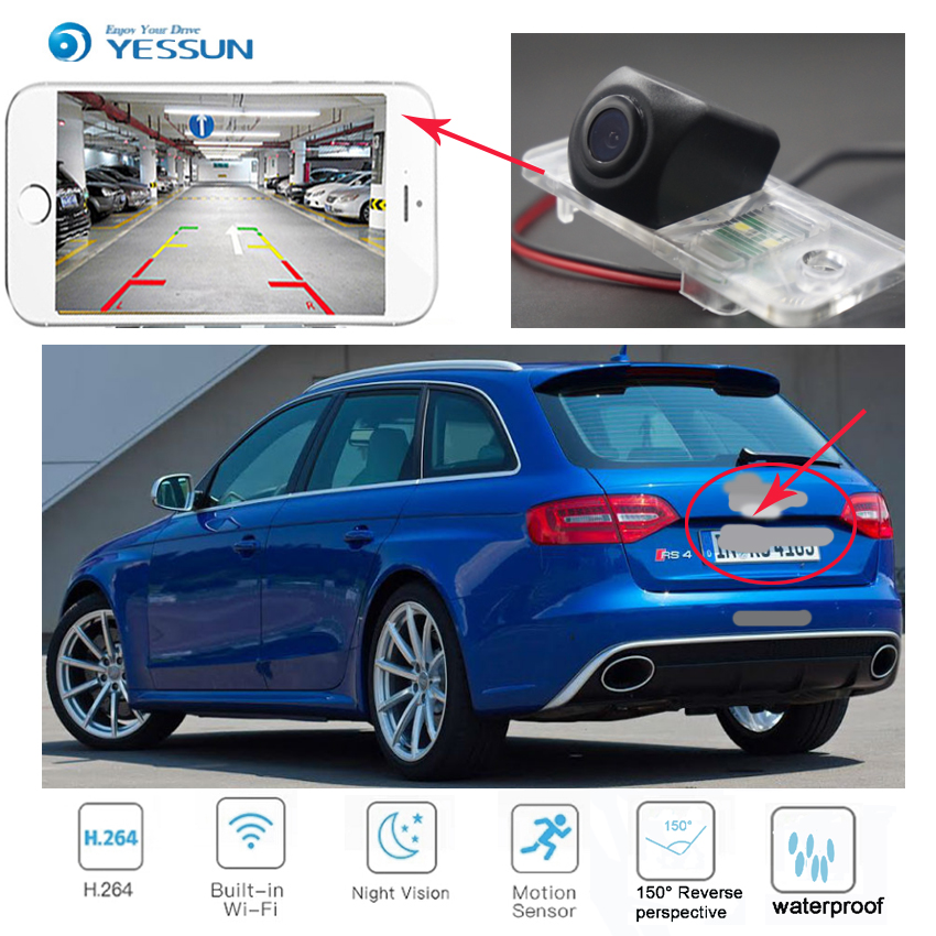 New Arrival! wireless connection car reversing HD camera for Audi A4 S4 RS4 2001 2008 for Audi A4 S4 B6 B7 (8E 8H) 2001 2005