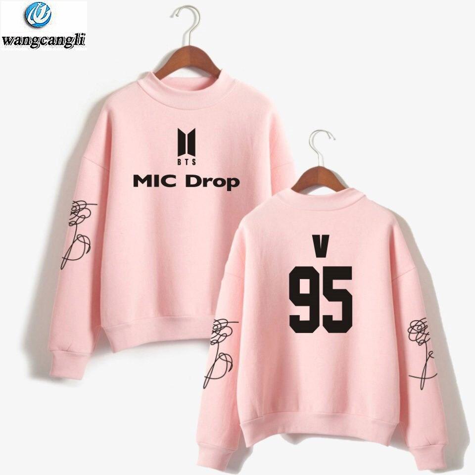 BTS MIC Drop kpop Hoodies Sweatshirt 2018 Bangtan boys outwear Hip Hop Jacket Hoodie New song DNA Winter Tracksuit Tops