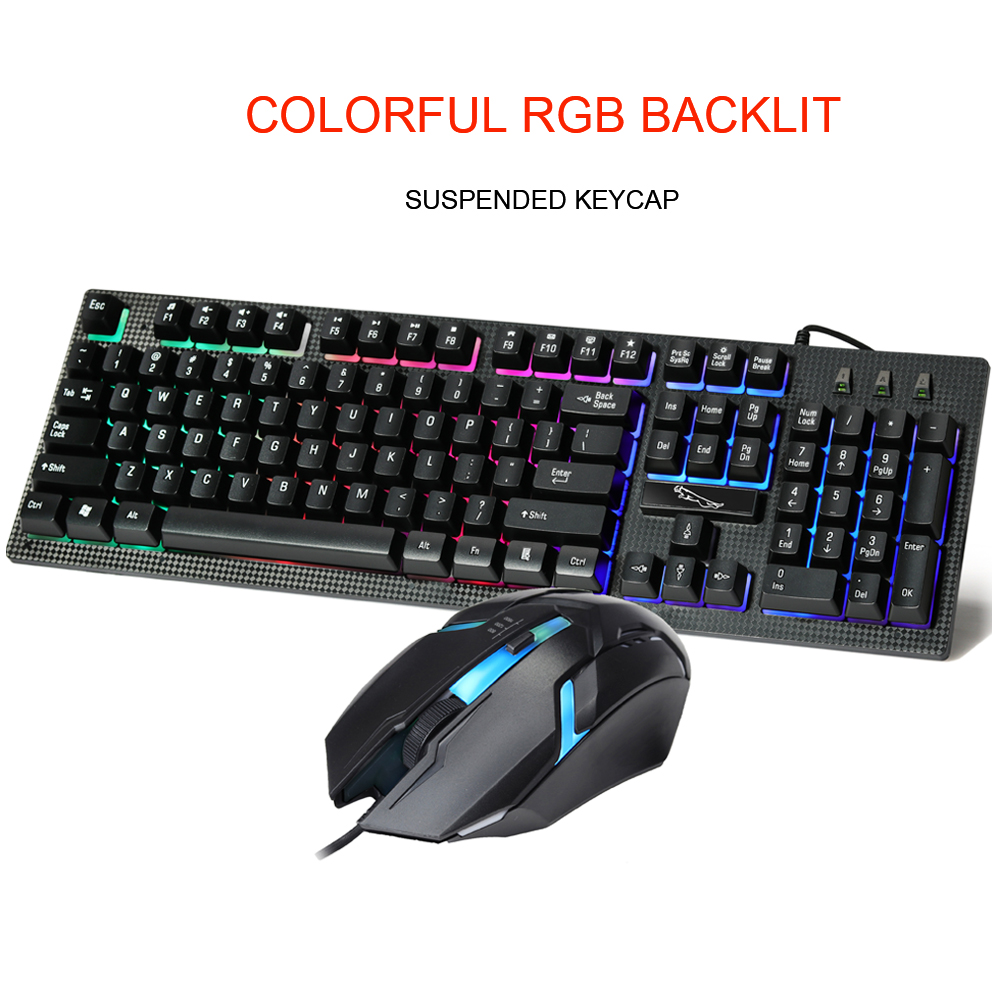 Audio & Video Replacement Parts Accessories & Parts Beautiful Motospeed Gaming Keyboard And Mouse Set With Rainbow Backlight For Desktop