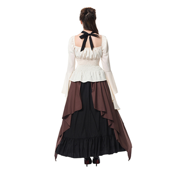 ROLECOS New Arrival Gothic Medieval Renaissance Women Costumes Victorian Ball Gown Long Dresses Retro Party Costumes GC309 2