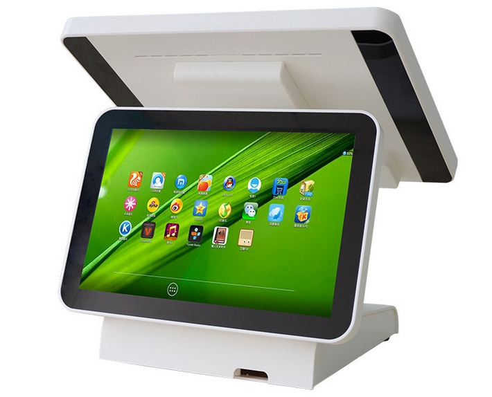 15 inch 4g wifi POS system touch teractive HDMI double display cash register bank card payment Android POS terminal image