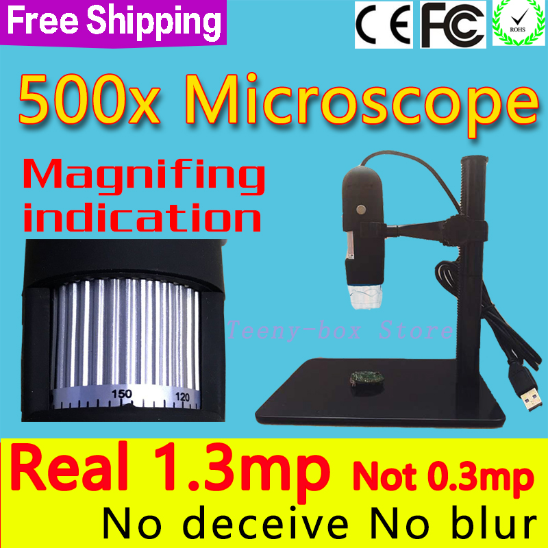 Digital video <font><b>microscope</b></font> with <font><b>USB</b></font> interface magnifying 5X 10X, <font><b>100X</b></font>, 200X, 300X 400X 500X image