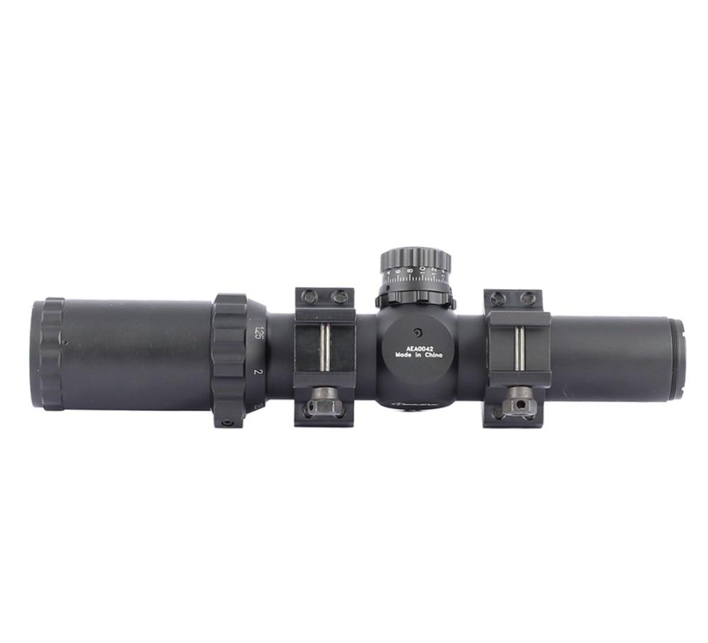 Sniper Tactical Riflescope 1.25-4x30 Rifle Scopes Hunting Scope Optic Sight Red/Green Illuminated Sight
