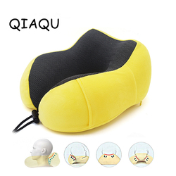 U em forma de recuperação memória espuma travesseiro acessórios de viagem pescoço travesseiros cuidados com a saúde encosto cabeça para o escritório embalagem vôo carro armazenamento