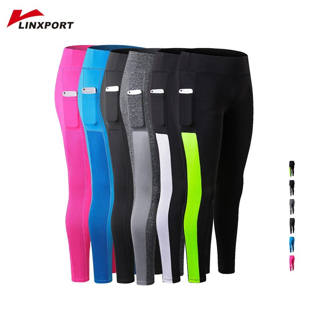 2019 Women Sport Gym Leggings Pocket Yoga Running Pants Sexy Fitness Legging Slim Tights Sports Jogging Capris Female Long Pants