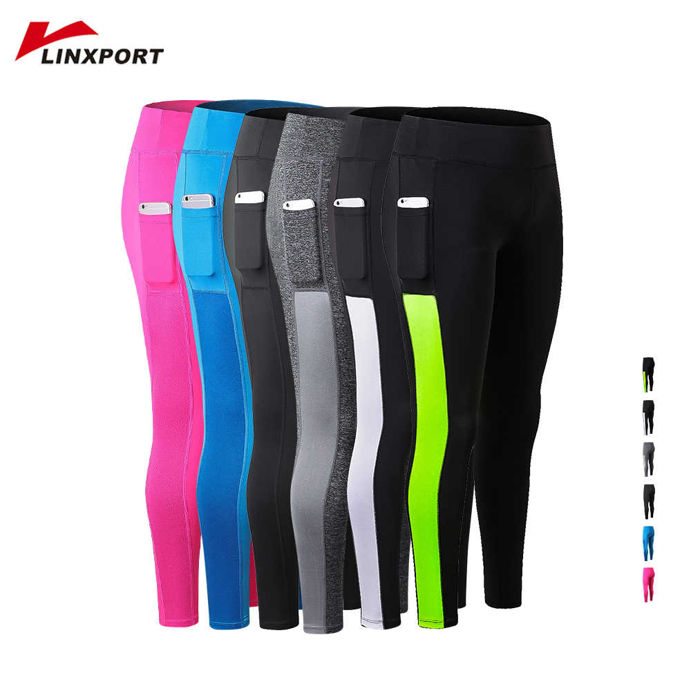 2019 Women Sport Gym leggings Pocket Yoga Running Pants Sexy Fitness Legging Slim Tights Sports Jogging Capris Female Long Pants