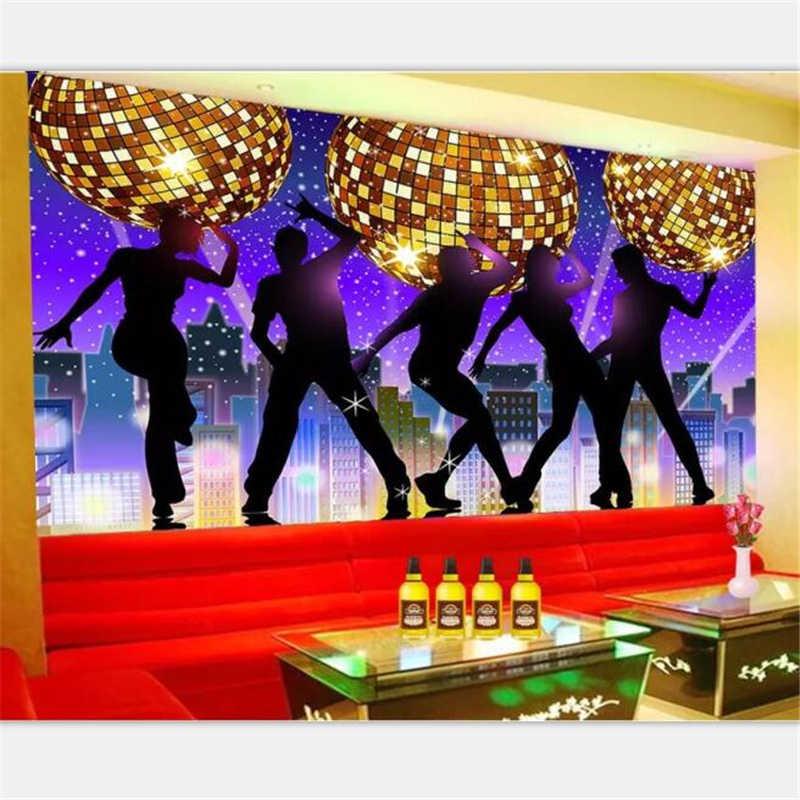 beibehang Wallpaper custom large-scale personalized karaoke bar KTV disco  fantasy ballroom nightclub tooling background Wall