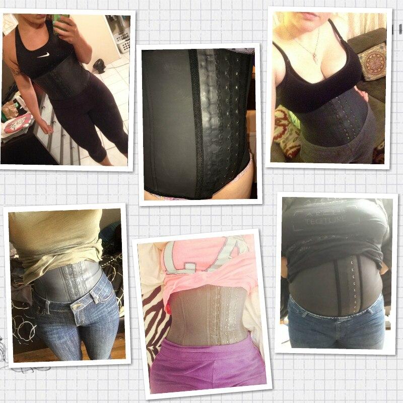 Image 2 - Shapewear Latex Waist Trainer Belt Slimming Waist Cincher Body Shaper Tummy Trimmer Long Torso Girdle Corset Modeling Strap-in Waist Cinchers from Underwear & Sleepwears