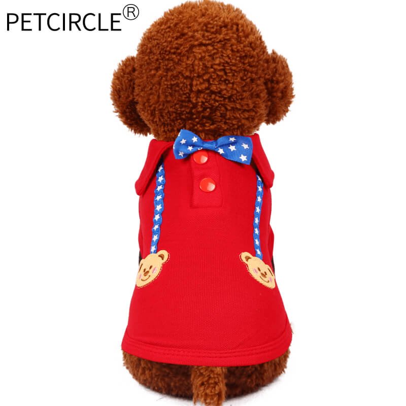 Petcircle Pet Dog Clothes Summer bear Puppy dog polo shirts breathable Pet T shirts for Chihuahua yorkshire 2 color freeshipping