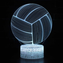 3D LED Night Lights Vollyball with 7 Colors USB Light for Home Decoration Lamp Amazing Visualization Optical Illusion Awesome 3d led night light dynamic tractor car with 7 colors light for home decoration lamp amazing visualization optical illusion
