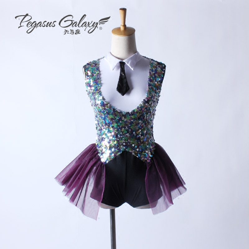Ballet Adulto Gymnastic Unitards Spanish Dance Costume Childrens Fancy Dress Bodysuit Women Ballet T-shirt Short Feminino