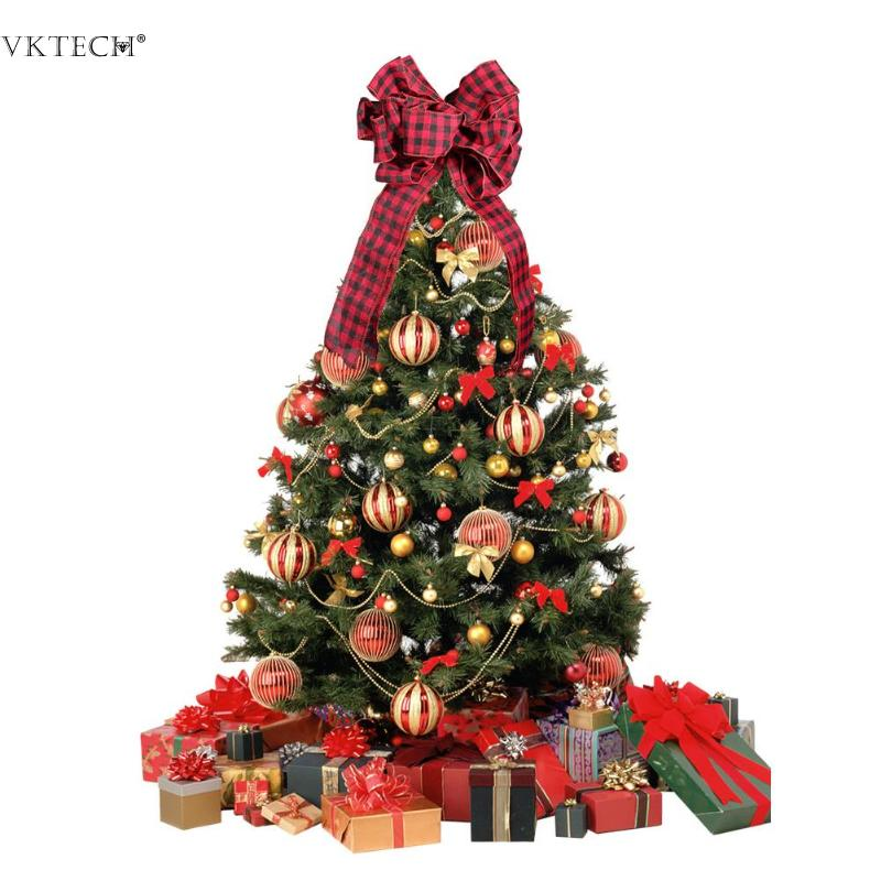 Christmas Tree Toppers Decor Ornaments Xmas Tree Hanging Bow Tie Holiday Home Party Decoration Christmas Decor Festive Supplies