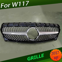 For CLA W117 DiamondGrille For Mercedes Front Racing Grill CLA Class Mercedes Benz W117 C117 CLA200 220 CLA260 300 AMG 2017 2018
