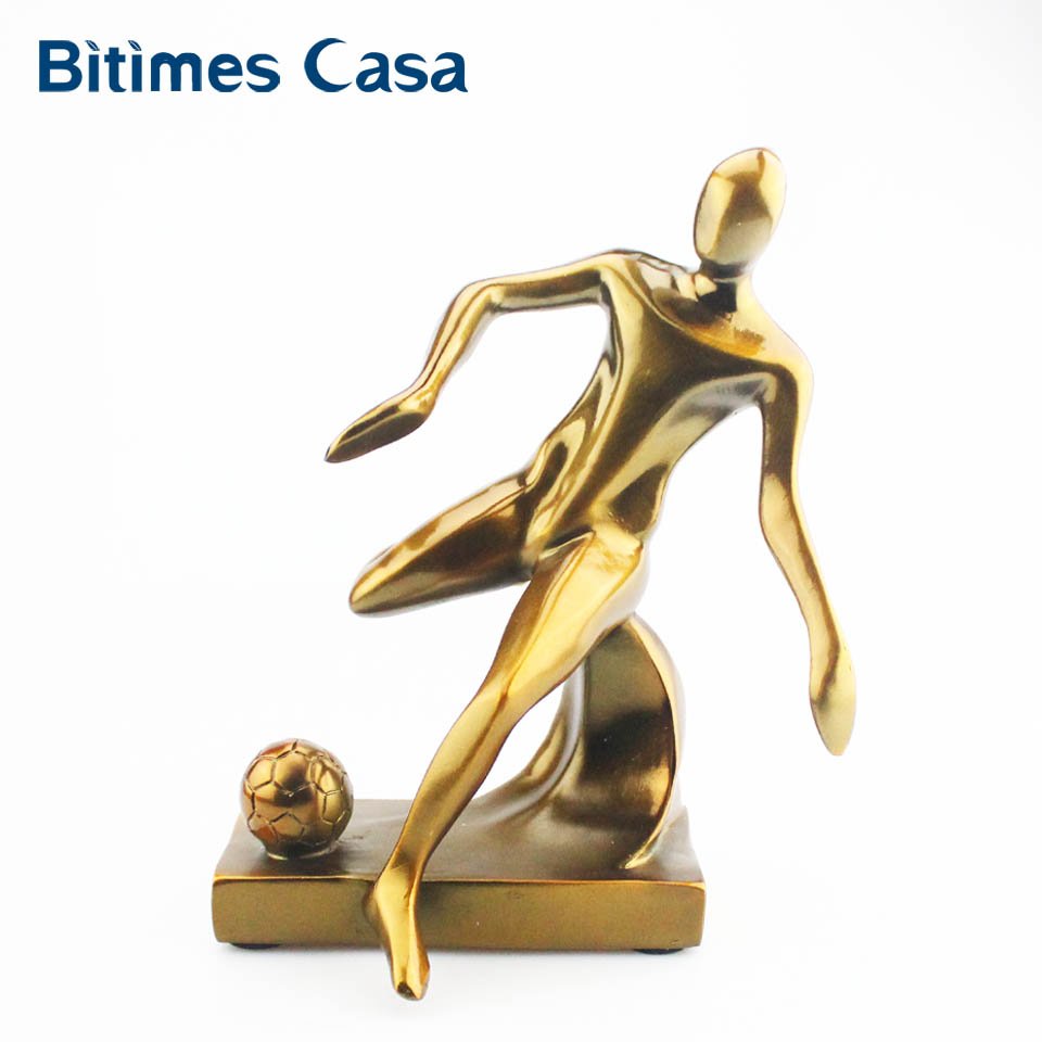 Bitimes Miniature Figurines Footballer Decorative Figurines Resin Ornament Art Home Deco ...