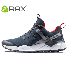 RAX Новый Для Мужчин's треккинговые ботинки кожа непромокаемые дышащая подушка обувь женщин Открытый Треккинг альпинизмом путешествия