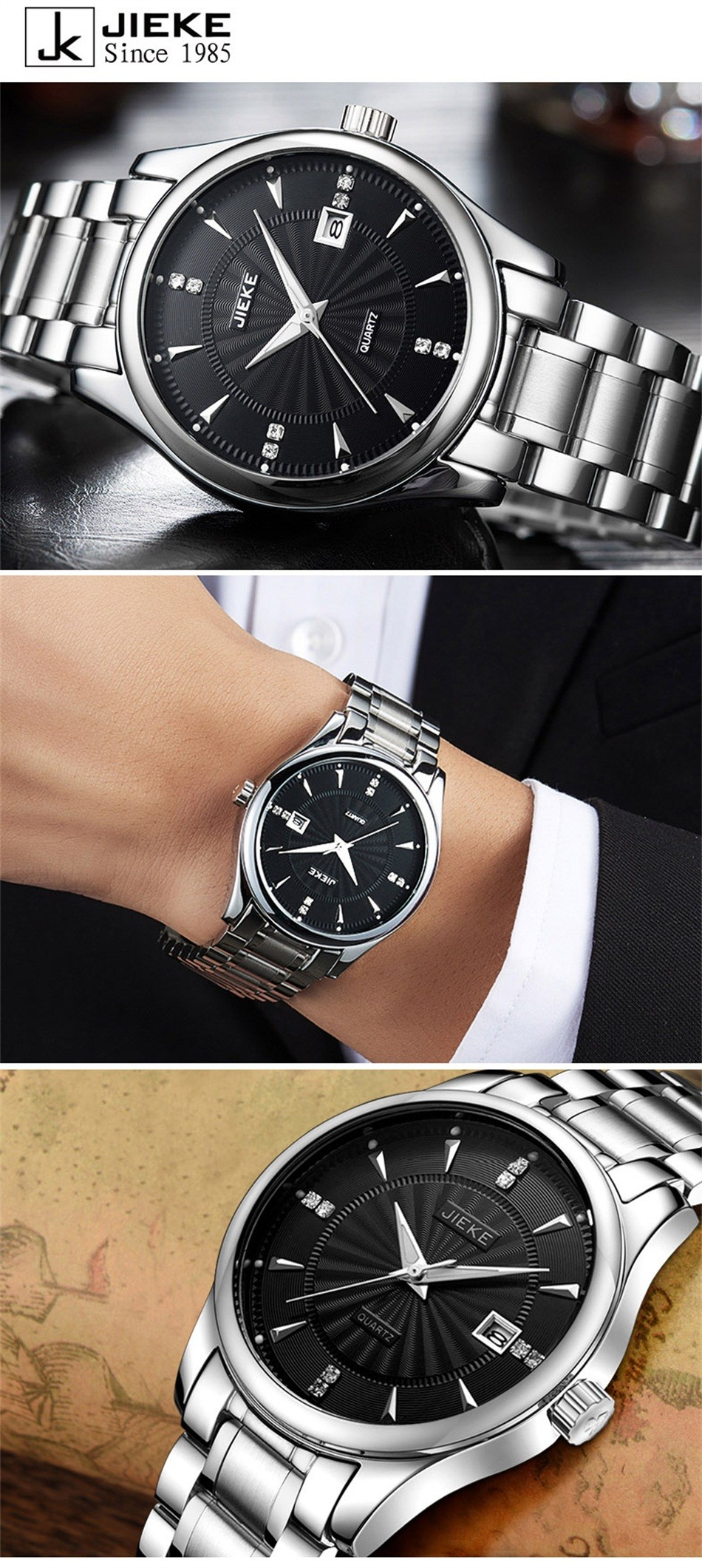mechanical style automatic white hot glass watch cadisen brown luxury sapphire watches band business sale dial top s role leather men waterproof