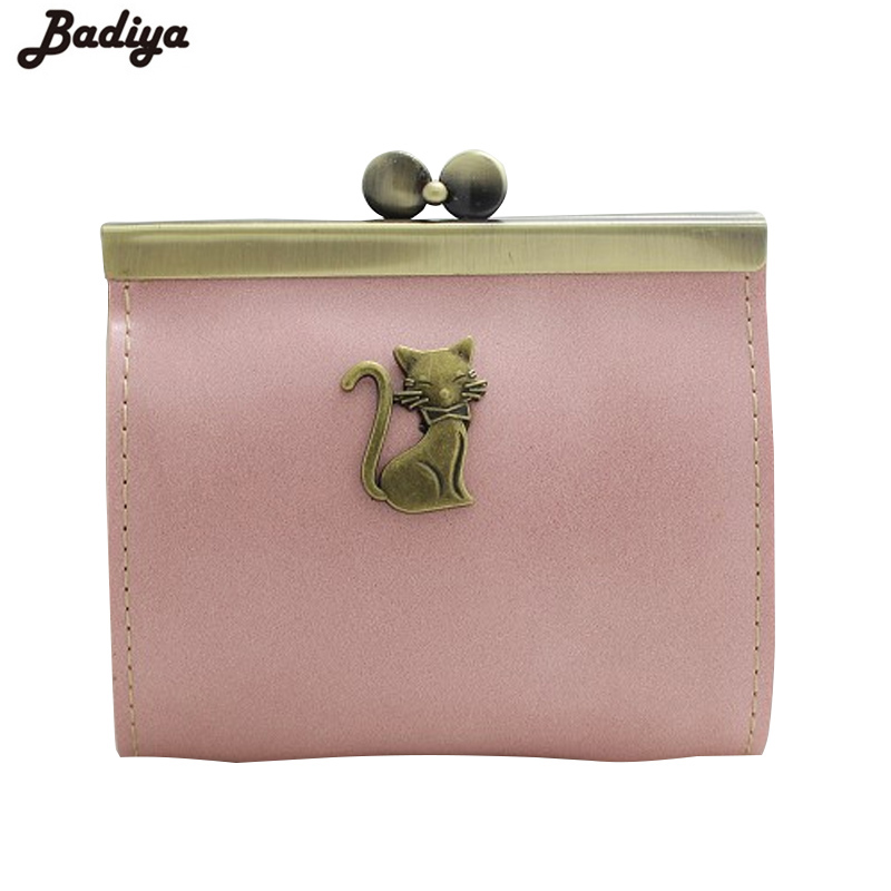 Clutch Bag Coin Purses Small Brand New Cat Metal Pattern PU Leather Kiss-lock Coin Purse Hasp Women Wallets animob a08 119 women s cat pattern pu coin purse mobile phone bag cosmetic bag deep pink