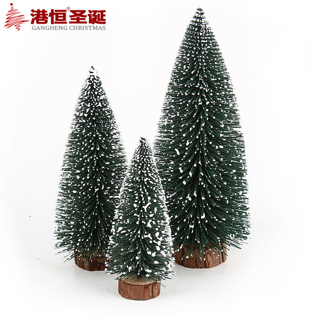 1pcs mini snow christmas tree decor christmas decorations for home small pine trees christmas decoration supplies - Decorated Christmas Trees For Sale