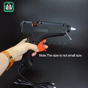 Image 3 - Freies Verschiffen 100W DIY Hot Melt Kleber Gun Schwarz Sticks Trigger Kunst Handwerk Reparatur Werkzeug mit Licht GG 5 110V 240V