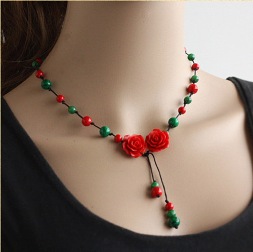 necklace jewelry natural handmade gemstone wholesale red beads product bracelet agate with online crystal roses beaded store cherry diy