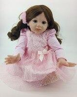 NPK Newborn Reborn Baby Dolls Silicone Soft Cloth Body toddler Doll For Girls Princess Kid Fashion Bebes Reborn Dolls