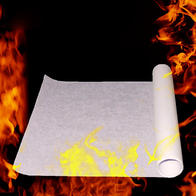 [new] 5pcs Fire Paper Flash Flame Paper Rose Fire Paper Red Color Fire Paper Magic Props Effect Shock High Quality And Safety