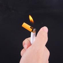Творческий Cigartte зажигалки бутан многоразового зажигалки Slim Mini Форма Новинка Зажигалка Форма d бутан без газа