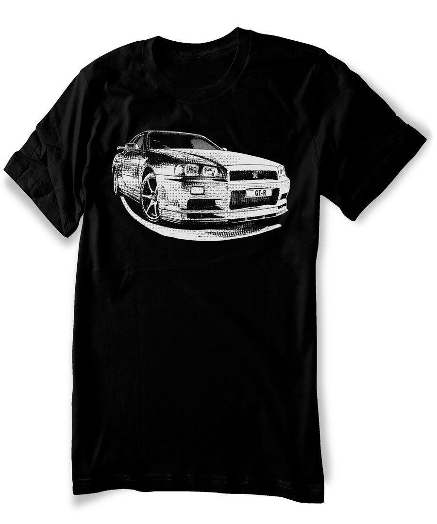 Japanese Classic Legend Car Skyline GT R R34 T shirt JDM ...