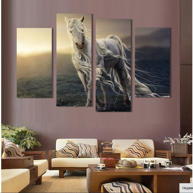 2017 paintings free shipping painting canvas hd large image horse picture printed on home decoration for