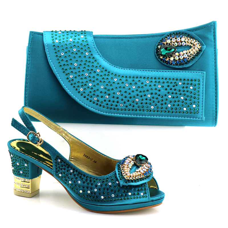 Latest Design Italian Shoes with Matching Bags Set Decorated with Rhinestone Women Shoes and Bags To Match Set Italy Party Shoes цены
